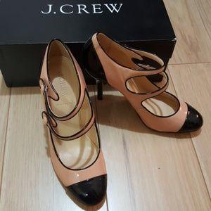 J.Crew two-tones patent Maryjane heels